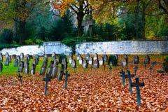 Hauptfriedhof, Ulm, Duitsland Stock Foto's