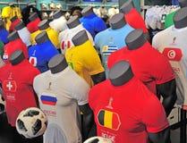 Hauptfußballhemden der Fußball-Weltmeisterschaft Russland 2018 Teams Stockbild