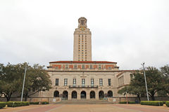 Hauptgebäude auf der Universität von Texas an Austin-Campus Lizenzfreie Stockfotos