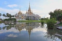 Hauptgebäude von nicht Kum-Tempel, Sikhio, Nakhon Ratchasima Lizenzfreie Stockfotos