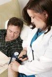 Hauptgesundheit - Blutdruck-Vertikale Lizenzfreie Stockfotografie