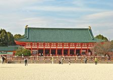 Haupthalle des Schrein-Japaners Heian Jingu, Kyoto Stockbilder