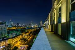 Haupthotel-Hauptbahnhof Bangkok, Ansicht von der Dachspitze und Bangk Lizenzfreie Stockfotografie