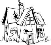 HauptImmobilien-Karikatur Vektor Clipart der reparatur Stockfotos
