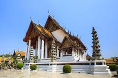 Hauptkapelle an Wat Suthat-Tempel in Bangkok Lizenzfreies Stockfoto