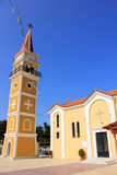 Hauptkirche in Argassi-Dorf, Zakynthos, Griechenland Lizenzfreie Stockfotos