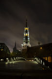 Hauptkirche St. Katharinen, Hamburg, at night Royalty Free Stock Photo