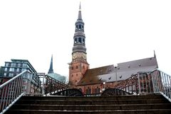 Hauptkirche St Michaelis St Michael ` s kościół w Hamburg obrazy stock