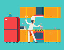 Hauptkoch-Food Dish Room-Küchen-Möbel-Haus lizenzfreie abbildung