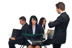 Hauptkraftangestellte zum zu arbeiten Lizenzfreie Stockfotos