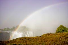Hauptleitung fällt bei Victoria Falls, Simbabwe Stockbild