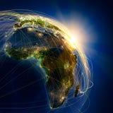 Hauptluftverkehrslinien in Afrika stock abbildung