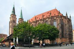 Hauptmarkt, the central square of Nuremberg, Bavaria, Germany. Stock Image