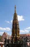 Hauptmarkt en Nuremberg Fotografía de archivo