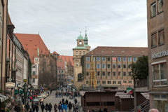 Hauptmarkt in Nuremberg Stock Photo
