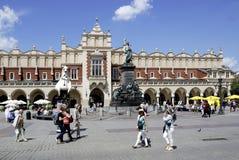 Hauptmarkt von Krakau in Polen Lizenzfreies Stockfoto