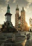 Hauptmarktplatz in alter Stadt Krakaus, Polen Stockfoto