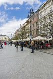 Hauptmarktplatz Krakau Stockfoto
