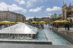 Hauptmarktplatz Krakau Lizenzfreies Stockfoto