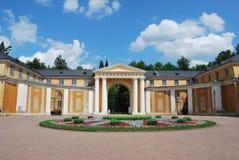 Hauptpalast im Arkhangelskoye Zustand. Moskau Lizenzfreies Stockfoto