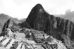 Hauptpiazza in Machu Picchu Stockbild