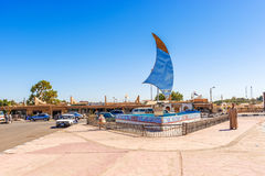 Hauptplatz in Abu Simbel, Ägypten Stockfoto