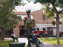 Hauptplatz in der Stadt von Santa Fe In New Mexiko Lizenzfreie Stockfotografie