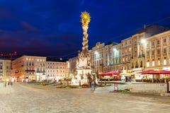Hauptplatz główny plac, Linz obraz stock