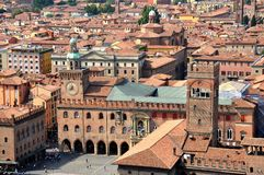 Hauptplatz im Bologna Lizenzfreie Stockbilder