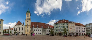 Hauptplatz-Panorama lizenzfreie stockfotografie