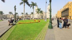 Hauptplatz und sein Park in Lima Peru stock video footage