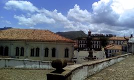 Hauptplatz von Ouro Preto stockfotografie