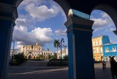 Hauptplatz von Sancti Spiritus, Kuba stockfotos