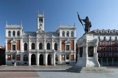 Hauptplatz von Valladolid, Spanien Kapital des autonomen Comm Lizenzfreies Stockbild