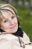 Hauptportrait der Frau mit Wiese Lizenzfreie Stockbilder