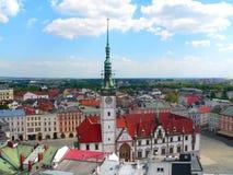 Hauptquadrat Olomouc in der Tschechischen Republik lizenzfreie stockfotografie