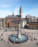 Hauptquadrat von Lille, Frankreich stockbilder