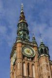 Hauptrathaus-Glockenturm in der alten Stadt von Gdansk in Polen. Lizenzfreies Stockfoto
