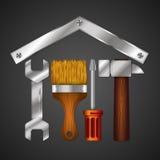 Hauptreparatur mit Design-Tool für Geschäft Stockbilder