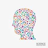 Hauptschattenbild der abstrakten Moleküle Stockbilder