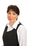 Hauptschuß der fälligen Executivfrau Lizenzfreie Stockbilder