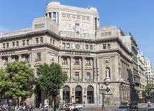 Hauptsitze Caixa Catalunya stockbilder