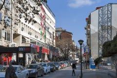 Hauptsitze der bulgarischen Sozialistischen Partei in der Mitte der Stadt von Sofia, Bulgarien lizenzfreies stockbild