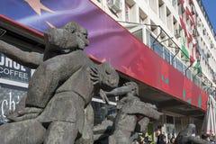 Hauptsitze der bulgarischen Sozialistischen Partei in der Mitte der Stadt von Sofia, Bulgarien lizenzfreie stockfotos