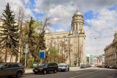 Hauptsitze des Ministeriums der Arbeit und der sozialen Angelegenheiten Moskau, Russland stockfotografie