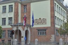Hauptsitze des Ministeriums von fremdem, Republik von Slowenien stockbild