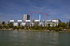 Hauptsitze Hoffmann La Roche in Basel, die Schweiz Stockbild