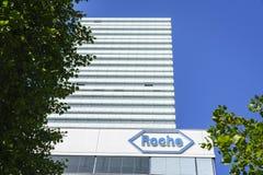 Hauptsitze Hoffmann La Roche in Basel, die Schweiz Stockfoto