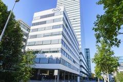Hauptsitze Hoffmann La Roche in Basel, die Schweiz Lizenzfreies Stockbild