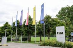 Hauptsitze von FIFA in Zürich auf der Schweiz stockfoto